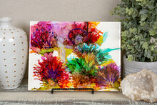 bright vibrant abstract alcohol ink flowers