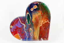 Abstract rainbow heart
