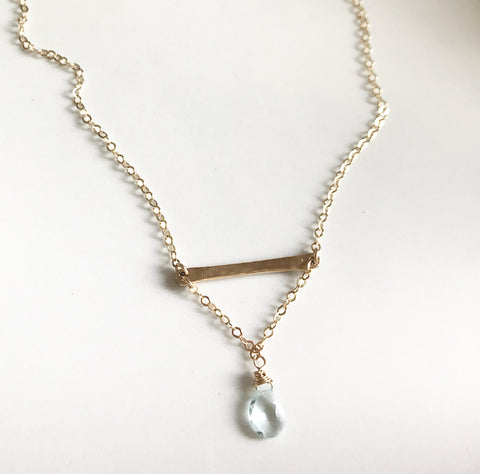 XO Hanalei Aqua Drop  Necklace