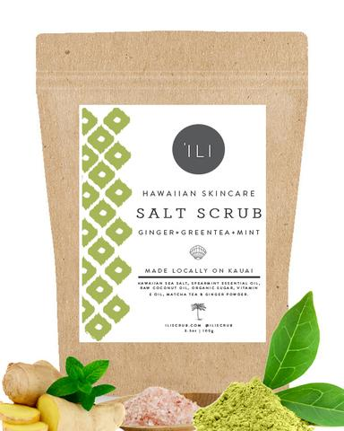 Ili Green Tea Mint Salt Scrub