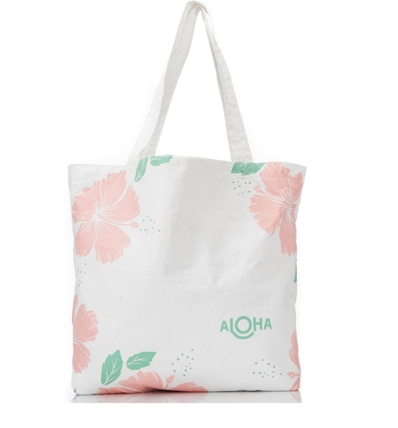 Hibiscus Splash Proof Tote