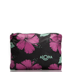 Mid-Size Hibiscus Splash Proof Pouch-Aloha Collection