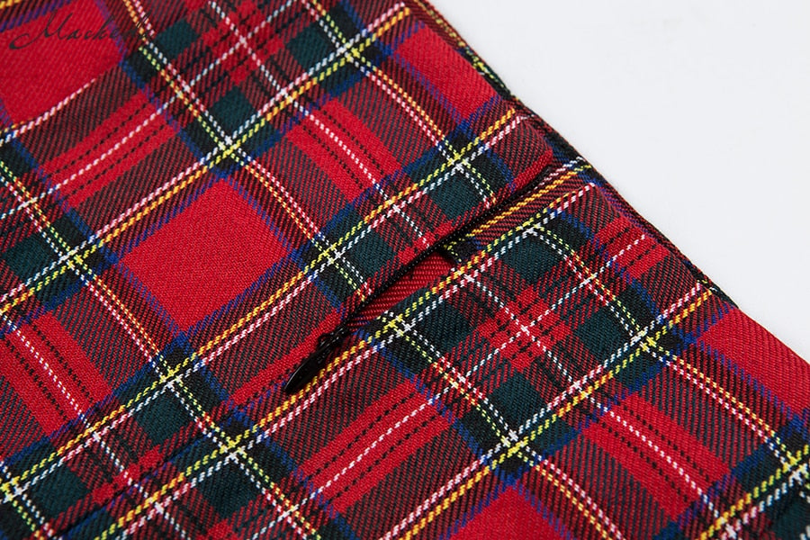 GOLDEN GIRL PLAID SKIRT