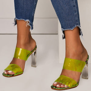 JONES TRANSPARENT HEELS