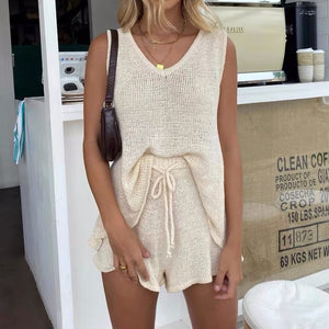 CRISS CROSS KNITTED PLAYSUIT