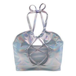 STARLING HOLOGRAPHIC TOP