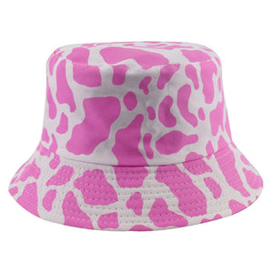 COW PRINT REVERSIBLE BUCKET HAT