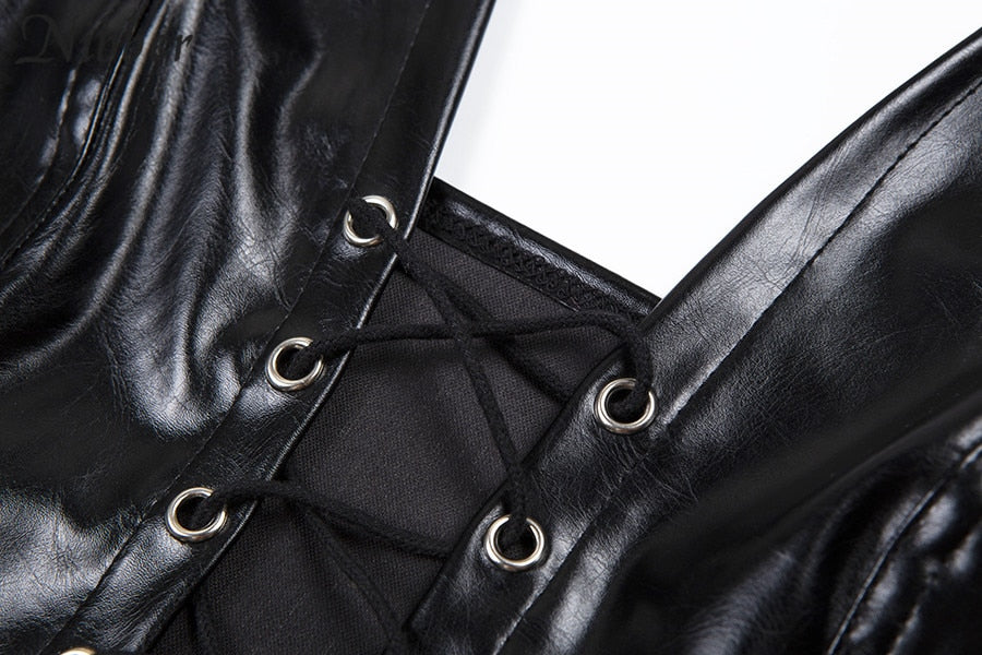 STRAP IT UP LEATHER TOP