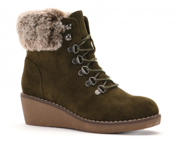 Corkys Fox Bay Olive Fur Boot
