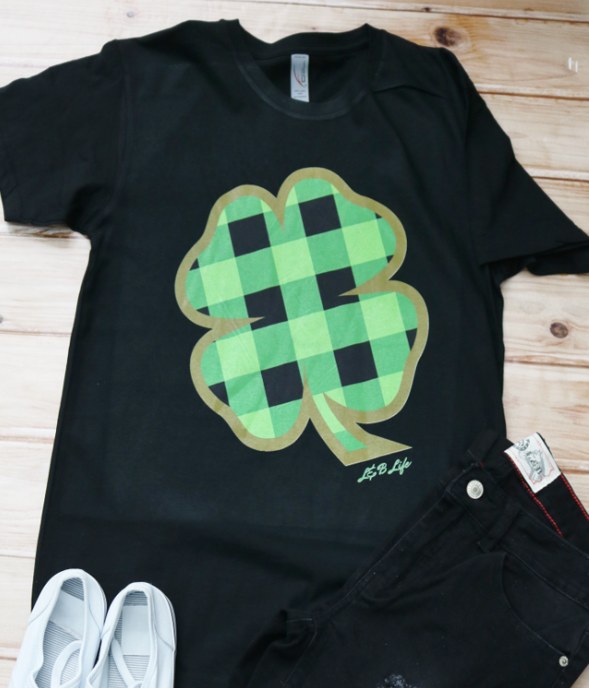 Plaid Clover T-Shirt