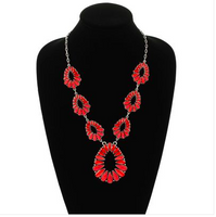 Amelia Stone Necklace White Or Red Accessories
