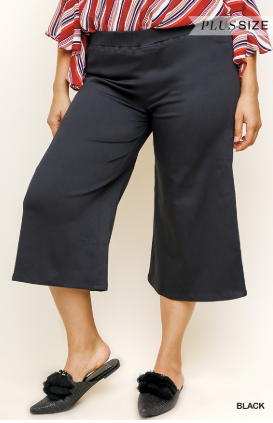 Raquel Black Crop Pants