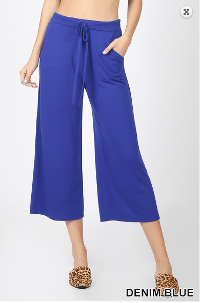 Zenana Cropped Lounge Pants