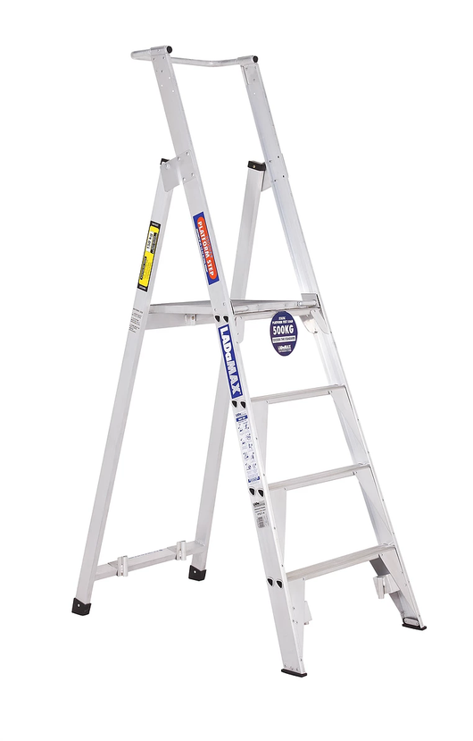 PS Range - Aluminium Platform Step Ladder 150kg Rated