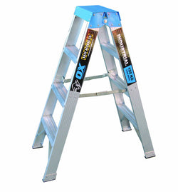 Ox Aluminium Double Sided Step Ladders Industrial 150kg