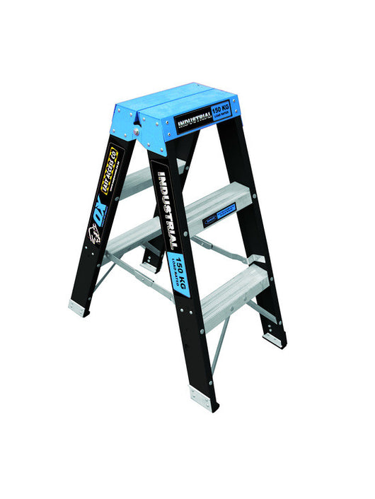 Ox Fibreglass Double Sided Step Ladders Industrial 150kg