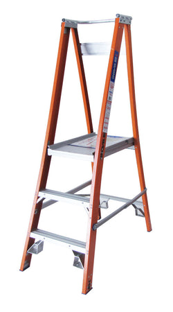 PROPF Range - Platform Step Ladders Fibreglass Heavy Duty Industrial 150kg