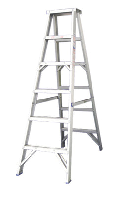Indalex Pro Aluminium Double Sided Step Ladders Heavy Duty Industrial 180kg