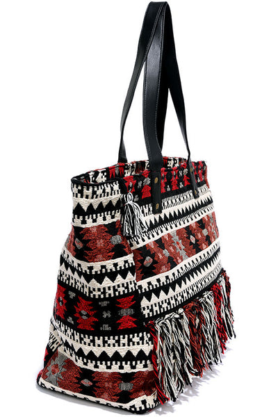 MYRCER RED SOUTHWEST TOTE