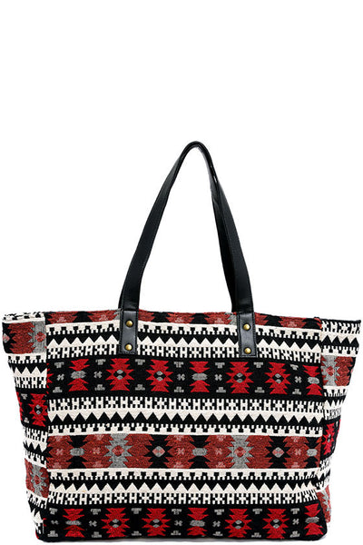 AMUSE SOCIETY | MYRCER RED SOUTHWEST TOTE | Bohemian Love Runway
