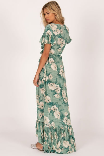 Amuse Soceity | FRILL SEEKER MAXI SPA GREEN | Bohemian Love Runway