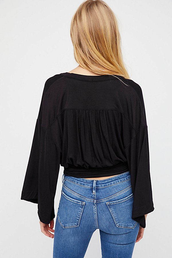 Free People | Thats A Wrap Solid Top ~ Black | Bohemian Love Runway