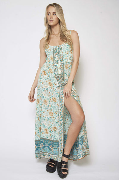 ARIA | SAMANTHA CAMI DRESS MINT | Bohemian Love Runway