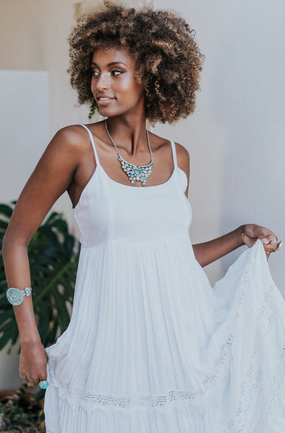 HOUSE OF SKYE | STELLA MAXI DRESS SUMMER WHITE | Bohemian Love Runway