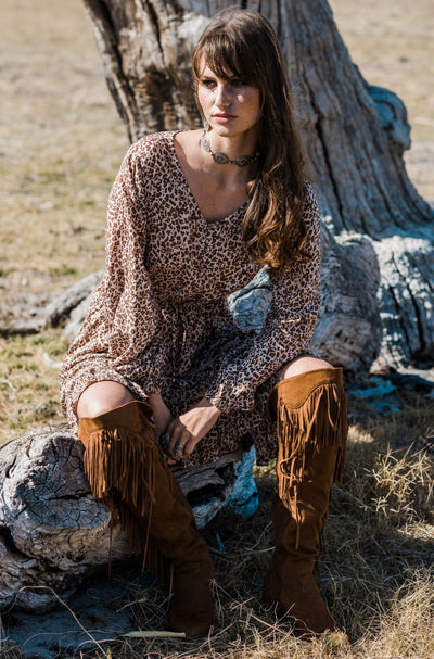 HOUSE OF SKYE | INTO THE WILD MINI DRESS | Bohemian Love Runway