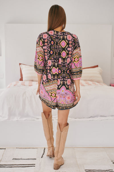 JAASE | CHERRY BLOSSOM TALLOW PLAYSUIT | Bohemian Love Runway