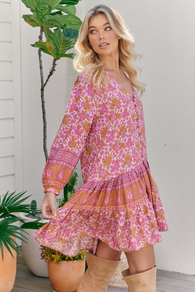 JAASE | PINK DAHLIA PAYSON DRESS | Bohemian Love Runway
