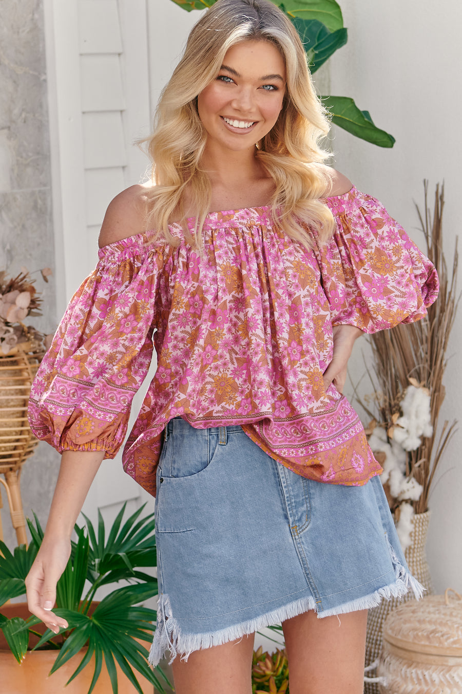 PINK DAHLIA PERRY BLOUSE