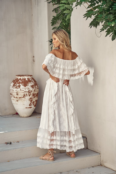 JAASE | SNOW WHITE GEORGIE MAXI DRESS | Bohemian Love Runway