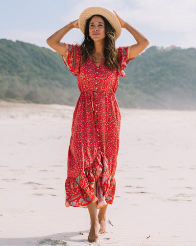 SAN JOSE THE LABEL | MAYA BOHO MAXI DRESS | Bohemian Love Runway