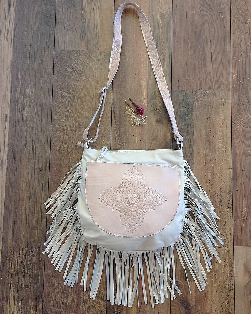 SIENNA BOHO BAG CREAM