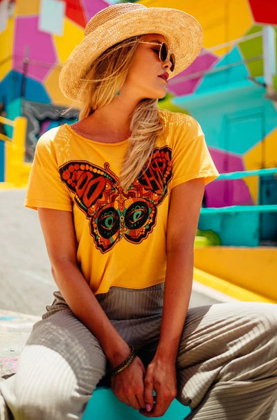 Life Clothing | WINGS OF FREEDOM BURTON TEE | Bohemian Love Runway