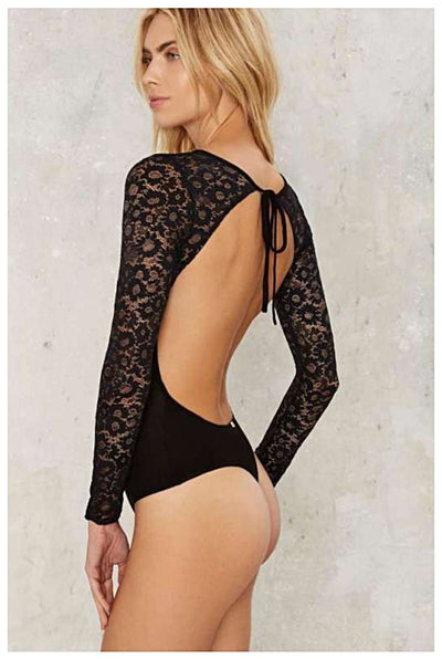 Skivvies | DAISY BODYSUIT BLACK | Bohemian Love Runway
