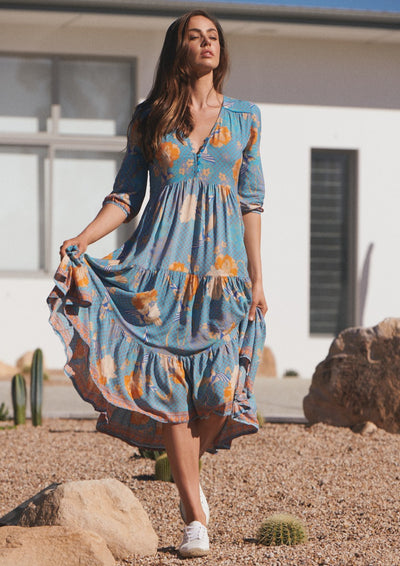 Jaase | SHORELINES MIDI DRESS | Bohemian Love Runway