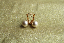 Solitaire Pearl Fish Hook Earring 10mm