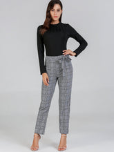 Waist Knot Plaid Pants