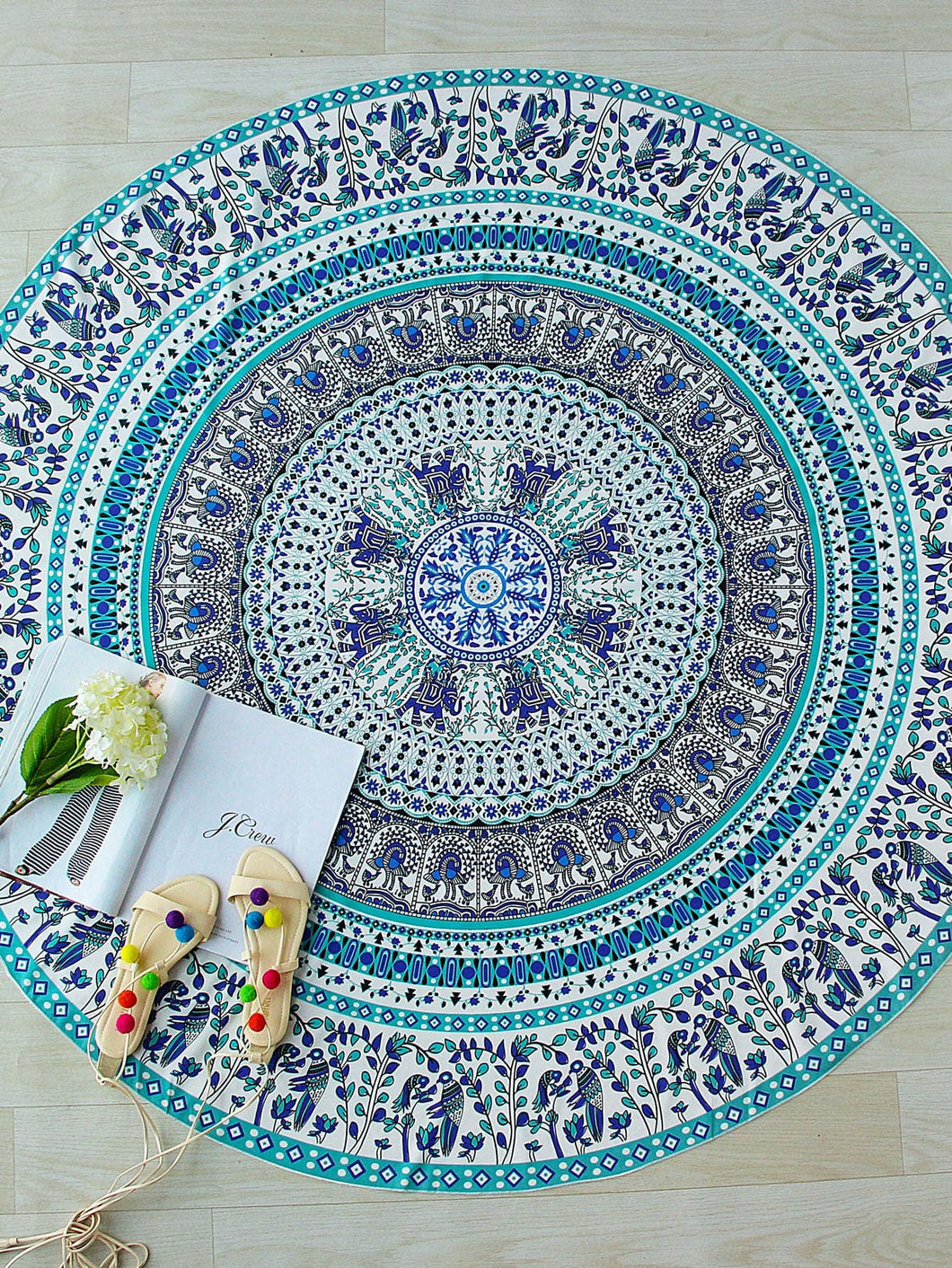 Tribal Print Round Beach Blanket