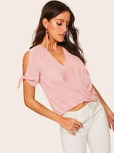 Cross Draped Knot Cuff Top