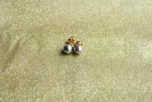 8mm gold plated silver pearl post stud