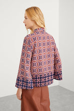 Tie Neck Ornate Print Top