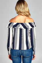 Kate Off Shoulder Striped Top