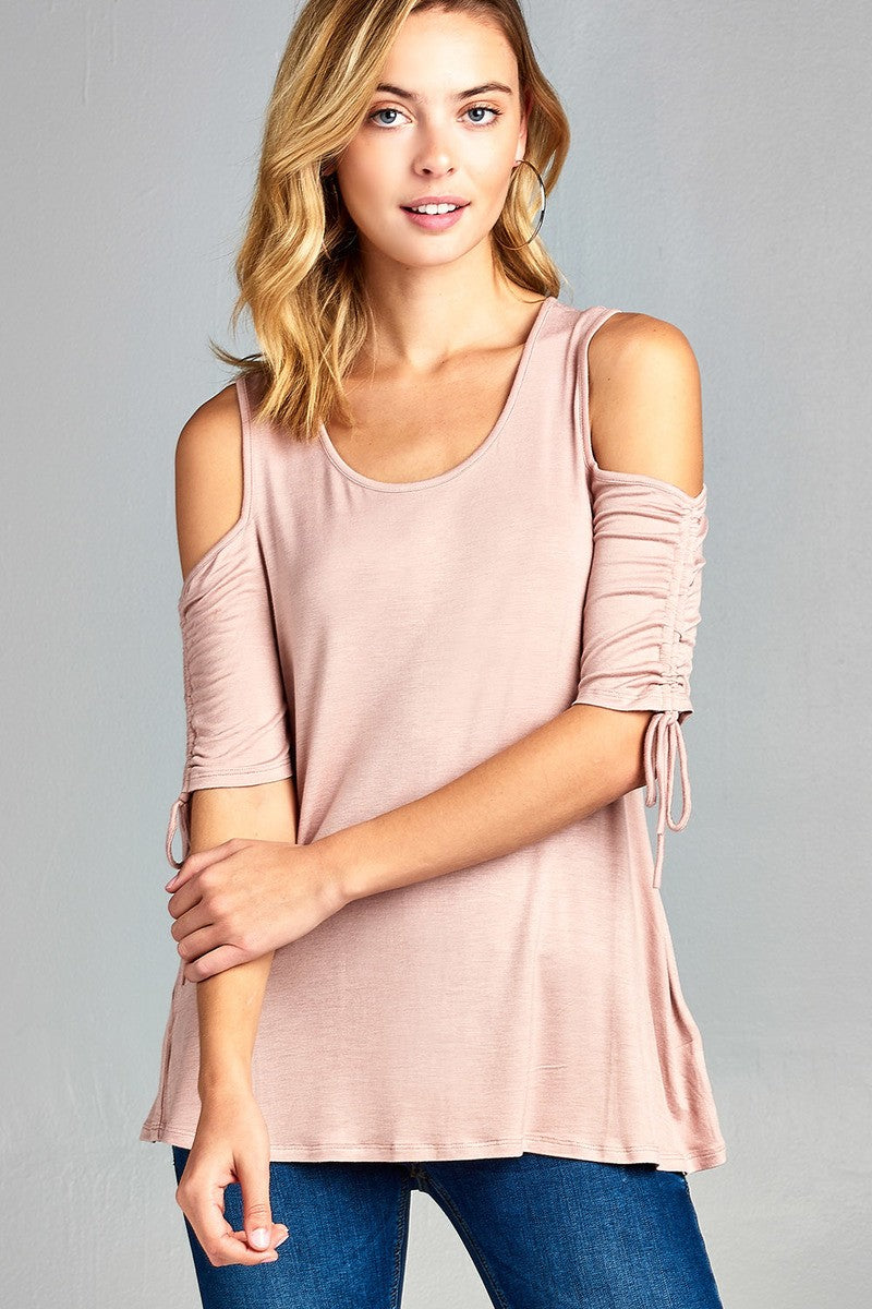 Mary Cold Shoulder Tee