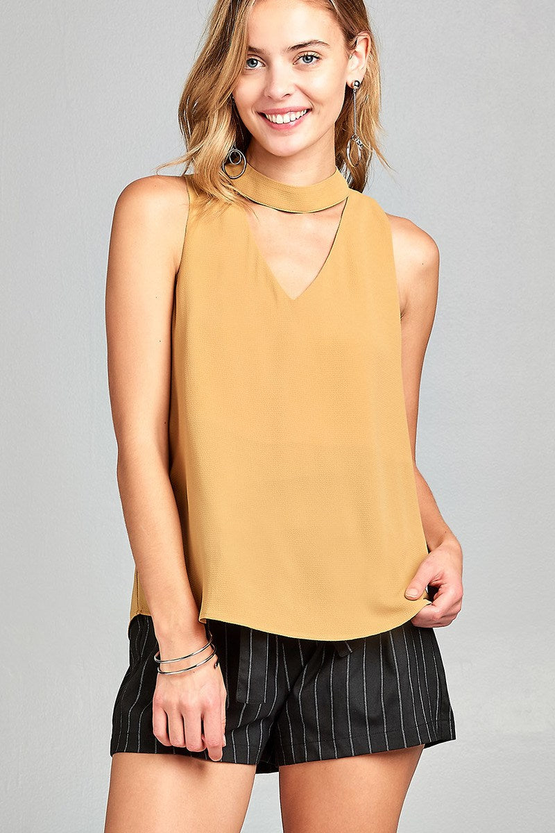 Sunshine Gigi Neck Top