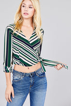 Wrap and Side Tie Crop Top
