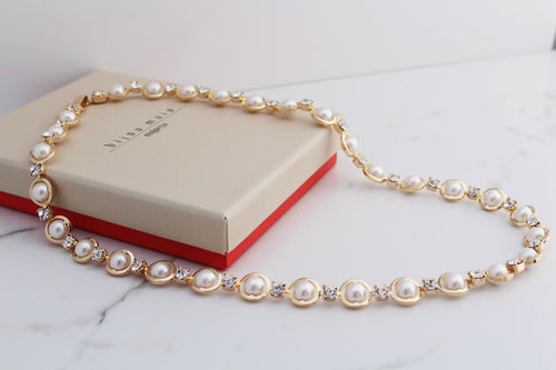 Pearls and Crystals Necklace