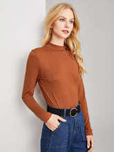 Tie Neck Cutout Solid Tee